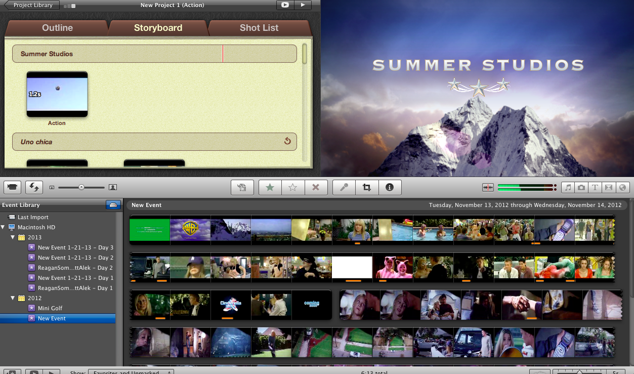 how to change the name of your project on imovie